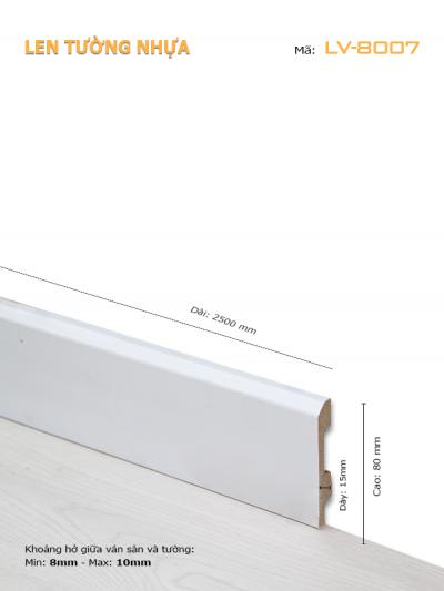Len Tường nhựa LV-8007