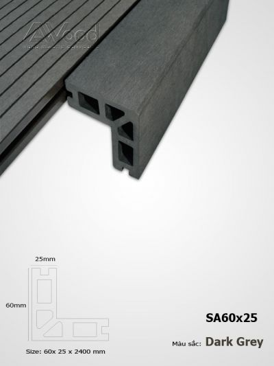 AWood SA60x25 Dark Grey