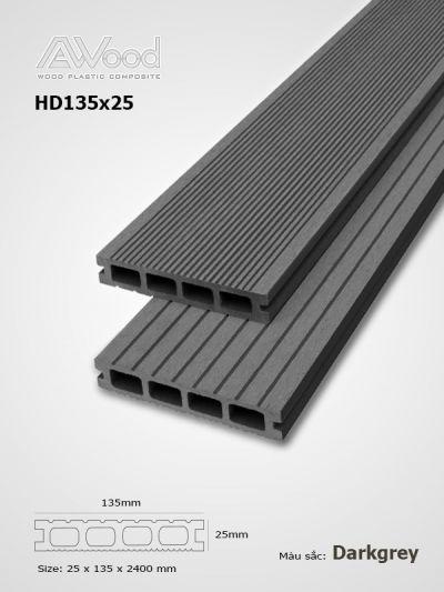 Sàn gỗ AWood HD135x25 darkgrey