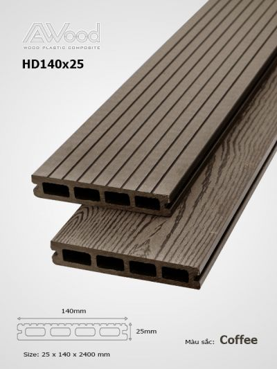 Sàn gỗ AWood HD140x25-4 Coffee