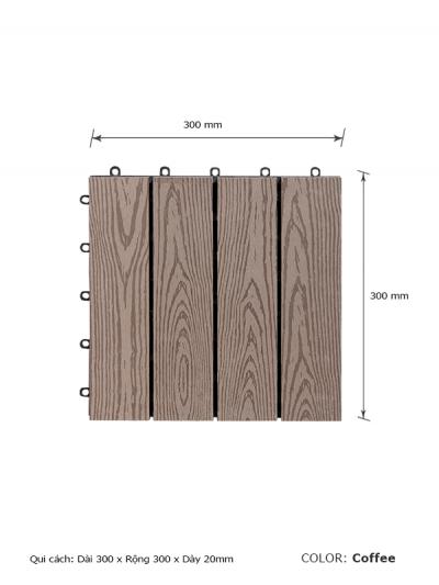 Vỉ gỗ lót sàn AWood DT01-WG-COFFEE
